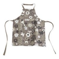 Ziczac Kid's Floral Color Centre Apron in Taupe