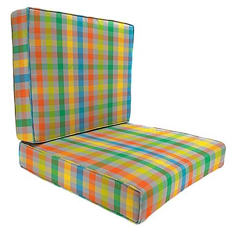 24 Inch X 2 Piece Deep Seat Chair Cushion In