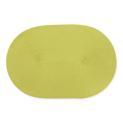 Ziczac Oval Placemat In Lime (Set Of 4)