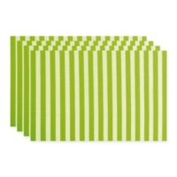 Ziczac Ladder Placemat in Green (Set of 4)