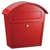 QualArc® Winfield Series Ridgeline Locking Wall Mount Mailbox in Red