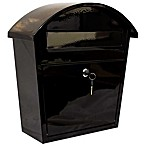 QualArc® Winfield Series Ridgeline Locking Wall Mount Mailbox in Black