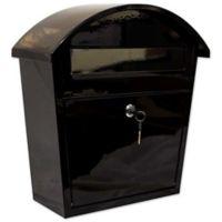 QualArc® Winfield Series Ridgeline Locking Wall Mount Mailbox in Black