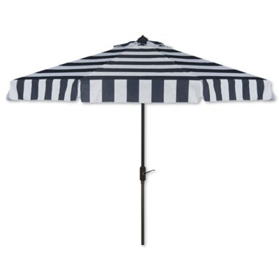 Safavieh UV Resistant Elsa Fashion Line 9-Foot Umbrella in Navy/White - Buy Striped Patio Umbrellas From Bed Bath & Beyond