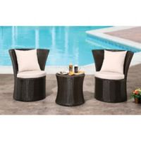 Abbyson Living® Cameron 3-Piece Outdoor Bistro Set in Espresso