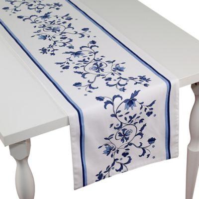 Port Merion By Avanti Blue Portmeirion 90 Inch Table Runner