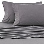 Winter Nights Cotton Flannel Solid Full Sheet Set in Graphite