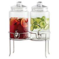 Dailyware® Twin Beverage Dispenser with Metal Rack