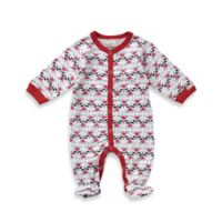 Coccoli Cranberry & Almond Size 6M Button Down Footie in Pink