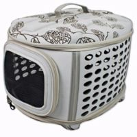 Deluxe Retreat Foldable Pet House in Light Grey