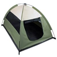 Cozy Camp Pet Tent House in Sage Green