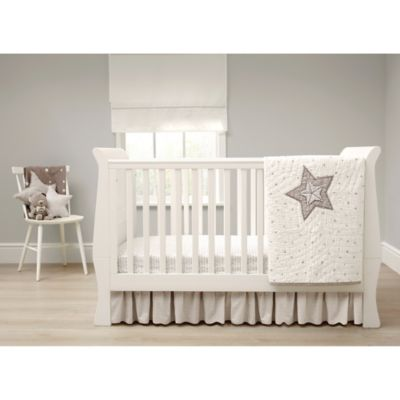 Mamas Papas Millie Boris 3 Piece Crib Bedding Set In Cream Grey