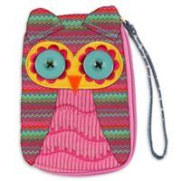 Stephen Joseph™ Owl Signature Wristlet in Pink