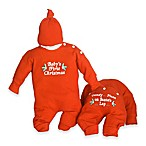 "Silly Phillie Creations Size 0-3M 2-Piece ""Baby's First Christmas"" Holiday Gift Set"