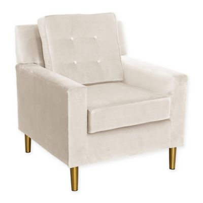 Skyline Furniture Parkview Chair In With Metal Legs In Regal Antique White