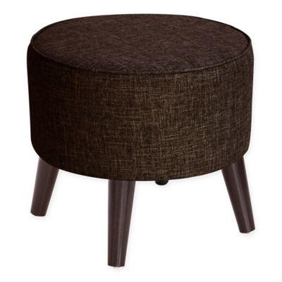 Skyline Furniture Brooker Round Ottoman In Espresso