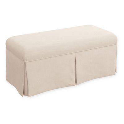 Skyline Furniture Buckley Linen Bench In Talc