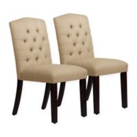 Skyline Furniture Denise Arched Dining Chairs in Linen Sandstone (Set of 2)