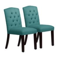 Skyline Furniture Denise Arched Dining Chairs in Linen Laguna (Set of 2)