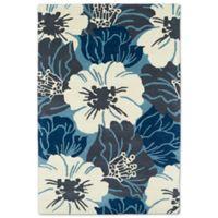 Kaleen Melange Grande Flora 3-Foot x 5-Foot Accent Rug in Blue