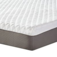 Therapedic® 10-Inch Plush Memory Foam Twin Mattress in White/Taupe