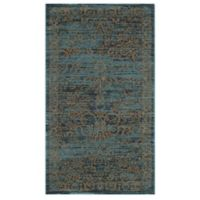 Safavieh Serenity Collection Bianca 2-Foot 3-Inch x 3-Foot 9-Inch Accent Rug in Turquoise/Gold