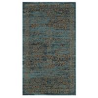 Safavieh Serenity Collection Bianca 3-Foot 3-Inch x 5-Foot 3-Inch Area Rug in Turquoise/Gold