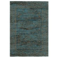 Safavieh Serenity Collection Bianca 4-Foot x 6-Foot Area Rug in Turquoise/Gold