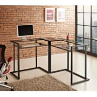 Corner Computer Desk in Black