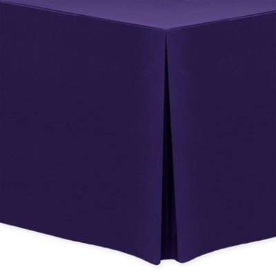 30 Inch X 96 Inch Oblong Indoor/Outdoor Twill Tablecloth In Purple