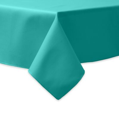 72 Inch Square Indoor/Outdoor Twill Tablecloth In Jade
