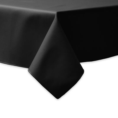 90 Inch Square Indoor/Outdoor Twill Tablecloth In Black