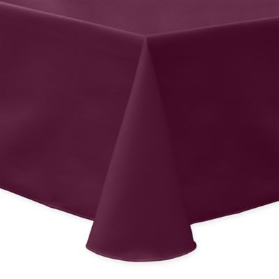 60 Inch X 90 Inch Oblong Indoor/Outdoor Twill Tablecloth In Burgundy