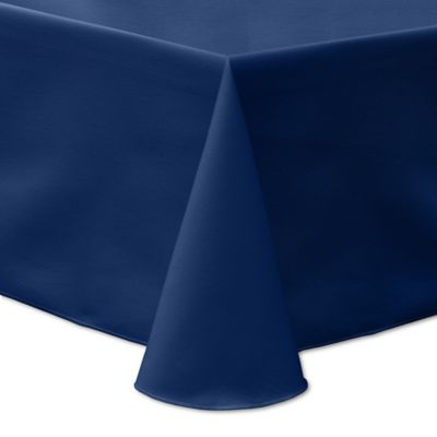 72 Inch X 108 Inch Oblong Indoor/Outdoor Twill Tablecloth In Navy