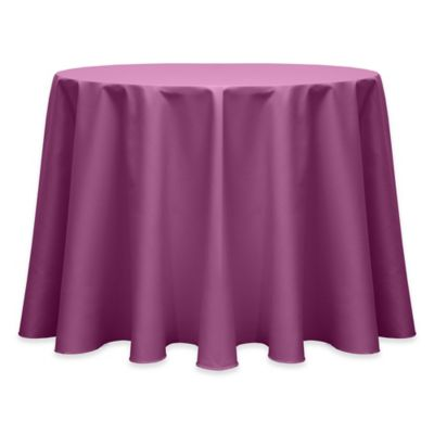 132 Inch Round Indoor/Outdoor Twill Tablecloth In Plumberry