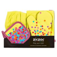 Ziczac Kid's 4-Piece Confetti Apron Set in Lime