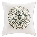 INK+IVY Ballad Square Throw Pillow in White