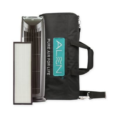 alen t500 tower air purifier with travel bag in silverblack - Alen Air Purifier