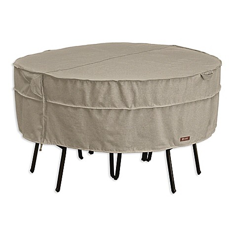 round patio table and chair set cover in grey from bed bath beyond