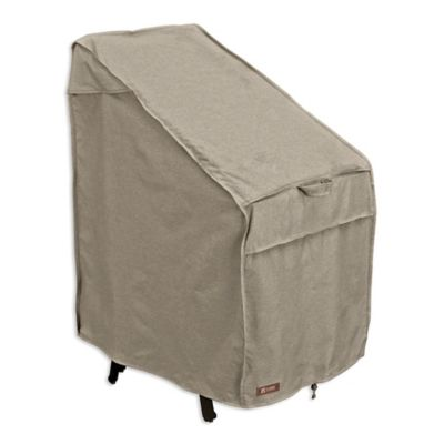 classic accessories montlake stackable patio chair cover in grey - Stackable Patio Chairs