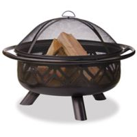 UniFlame® 36-Inch Outdoor Steel Firebowl in Oil Rubbed Bronze