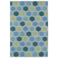 Kaleen Lily & Liam Honeycomb 3-Foot x 5-Foot Area Rug in Blue