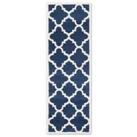 Safavieh Amherst 2-Foot 3-Inch x 7-Foot Indoor/Outdoor Rug in Navy/Beige