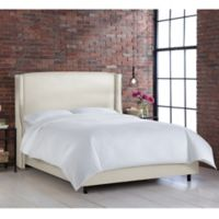 Skyline Furniture Geneva Wingback California King Bed in Linen Talc