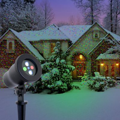 Night Stars Premium Series Red, Green and Blue Laser Light with 16-Color LED Flood Light