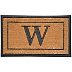 18-Inch by 30-Inch Monogram Letter  W  Door Mat in Natural