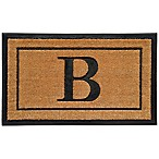 18-Inch by 30-Inch Monogram Letter  B  Door Mat in Natural