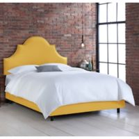 Skyline Furniture Noe Nail Button Twin Bed in Linen French Yellow