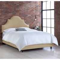 Skyline Furniture Noe Nail Button California King Bed in Linen Sandstone