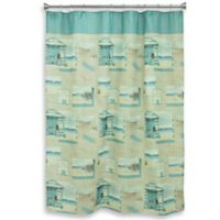 Bacova Beach Cruiser Shower Curtain in Blue/Ivory